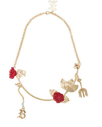 Christopher Kane Rose Chain Necklace
