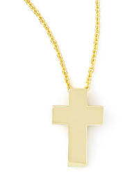 Roberto Coin Small 18k Yellow Gold Cross Necklace