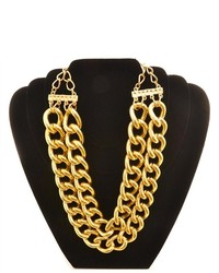 Soho Girl Double Chained Necklace Gold