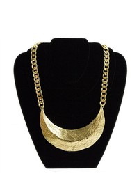 Soho Girl Gold Crescent Necklace