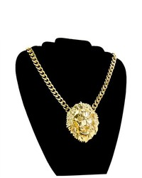 Soho Girl Lion Centered Necklace Gold