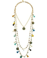 Tory Burch Tassel Multi Layering Necklace Necklace