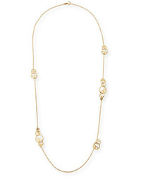 Tory Burch Thames Rosary Station Necklace