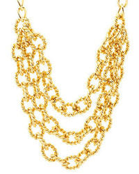 Charlotte Russe Twisted Chain Statet Necklace