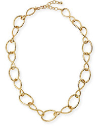 Kenneth Jay Lane Twisted Open Link Necklace 30