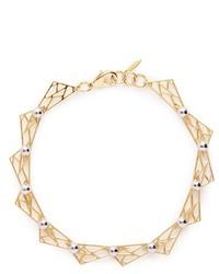 Nobrand Vertigo Geometric Metal Fretwork Hinged Necklace