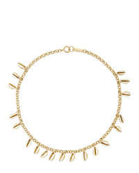 Isabel Marant White And Gold New Amer Necklace