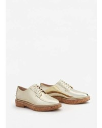 Mango Metallic Oxford Shoes