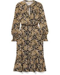 MICHAEL Michael Kors Paisley Print Stretch Jersey Midi Dress