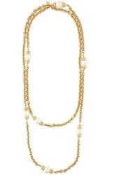 Chanel Vintage Pearl Filigree Necklace
