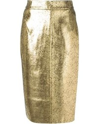 Gold pencil skirt original 4378827