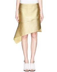Reed Krakoff Flounce Hem Metallic Skirt
