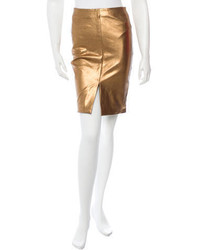 L'Agence Leather Skirt