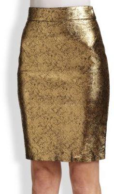 b643e71c00554c $840, Raoul Metallic Leather Pencil Skirt