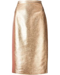 Raoul Metallic Sheen Pencil Skirt