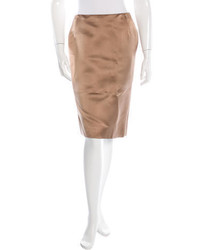 Satin pencil skirt medium 1314619