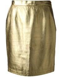 Yves Saint Laurent Vintage Metallic Skirt