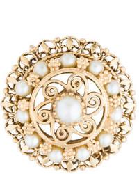 14k Pearl Pendant Brooch