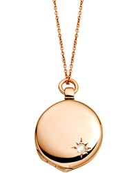 Astley Clarke 14k Rose Gold Astley Locket Necklace With Moonstone