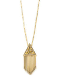 House Of Harlow 1960 Golden Hour Fringe Pendant Necklace