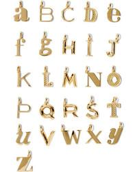 Monica Vinader A Z Alphabet Letter Gold Vermeil Pendants D
