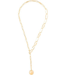 Isabel Marant Ball Pendant Chain Necklace