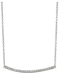 Shashi Bar Pave Pendant Necklace Necklace