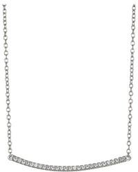 Shashi Bar Pave Pendant Necklace Necklace