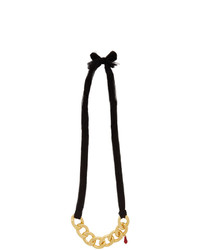 Undercover Black Silk Chain Necklace
