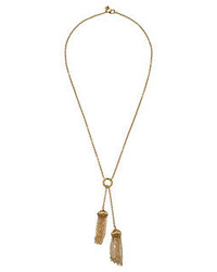 Rebecca Minkoff Caged Stud Tassel Necklace