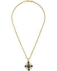 Chanel Vintage Gripoix Pendant Necklace