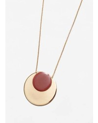 Mango Circular Pendant Necklace