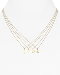 Dogeared Initial Pendant Necklace 18