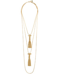 Rosantica Double Tassel Pendant Necklace