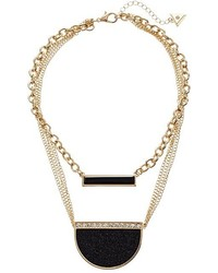 GUESS Duo Necklace W Bar And Pendant Necklace