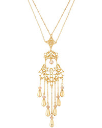 Fragments for Neiman Marcus Fragts Long Filigree Tassel Pendant Necklace