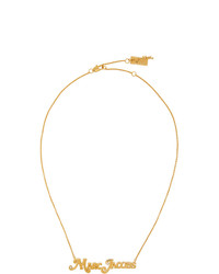 Marc Jacobs Gold New York Magazine Edition The Small Mj Nameplate Necklace