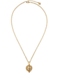 Versace Gold Ring Pendant Necklace