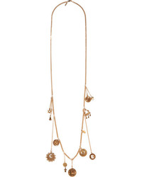 Chloé Gold Tone Charm Necklace
