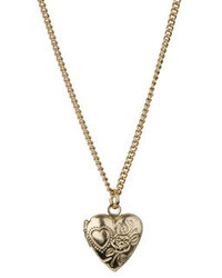 Topshop Heart Locket Pendant