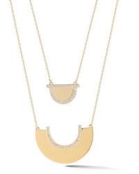 Elizabeth and James Kahlo Pav White Topaz Double Pendant Necklace