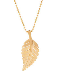 Jennifer Meyer Leaf Pendant Necklace