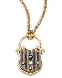 Lanvin Lock Short Pendant Necklace