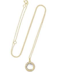 Ippolita Lollipop Mini 18 Karat Gold Quartz And Diamond Necklace