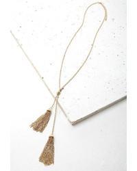 Forever 21 Longline Tassel Pendant Necklace