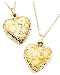 Macy's 14k Gold Necklace I Love You Reversible Locket