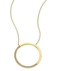 Michael Kors Michl Kors Brilliance Circular Pave Pendant Necklace
