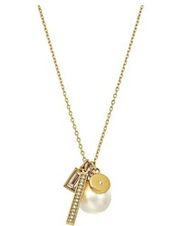 Michael Kors Michl Kors Modern Classic Pearl Charm Pearl Pendant Necklace Necklace