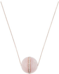 Michael Kors Michl Kors Rose Quartz Pendant Necklace