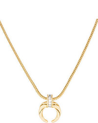 Rachel Zoe Mini Crescent Horn Necklace